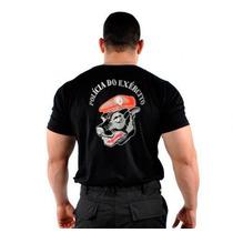 088m13 - Camiseta Estampada Polícia Do Exército - Cão Boina