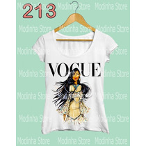 Blusa Tshirt Feminina Princesa Vogue Pocahontas Look Flame