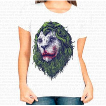 Camiseta Personalizada Feminina Leao Joker Coringa