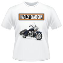 Camiseta Moto Harley Davidson Motor Cycles Road King Classic