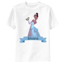 Camiseta A Princesa E O Sapo Personalizada - Tiana E Naveen
