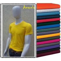 Camiseta Masculina Gola V Básica- Varias Cores