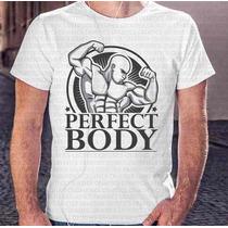 Camisa Estampa Masculina Perfect Body Malha Corpo Perfeito