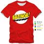 Camiseta Bazinga The Big Bang Theory Seriados Camisa Nerd