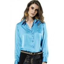 Camisa De Cetim Feminina Principessa Tiziana