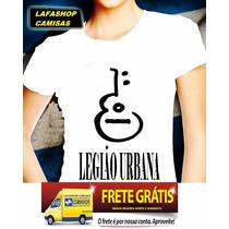 Camisa Legiao Urbana Baby Look Feminina Camiseta Bandas Rock