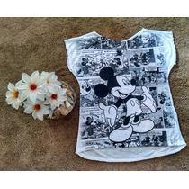Blusa Camiseta Feminina Mickey Tamanho Unico
