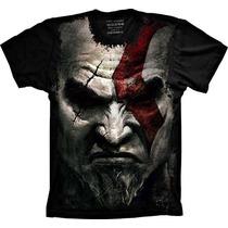 Camiseta Jogo God Of War Kratos Gamer Camisa Kratos Tshirt