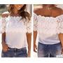 Blusa Camisa Em Detalhe Em Renda Pronta Entrega