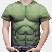 Camiseta Hulk Músculos Estampa Hd Camisa Masculina