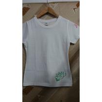 Camiseta/blusa Baby Look Roxy Branco Ou Rosa