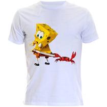 Camiseta Infantil Personalizada Do Bob Esponja