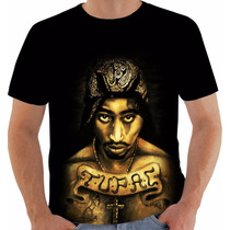 Camiseta Tupac Shakur 2pac Gangsta Modelo 4
