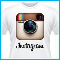 Camiseta Personalizada Instagram, Rede Social, Blusa