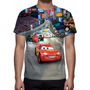 Camisa, Camiseta Disney Carros - Estampa Total