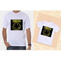 Kit Camisetas Tal Pai, Tal Filho Nirvana