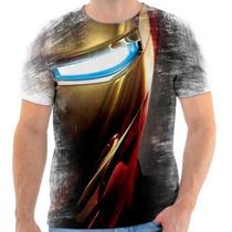 Camiseta - Camisa Marvel Homem De Ferro Iron Man Armadura