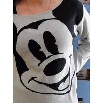 Blusa De Frio Feminina - Mickey Cardigãs Lã Trico Tricot
