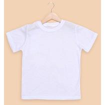 Camiseta Infantil 100% Poliéster Para Sublimação - 10 Peças