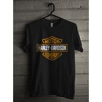 Kit 5 Peças (2 Camisetas Harley Davidson E 3 Lisa Preta G8)