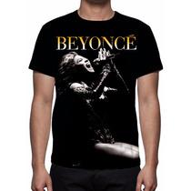 Camisa, Camiseta Beyonce Mod 02 - Estampa Total