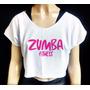 Top Cropped Estampado Zumba Fitness Plus Size