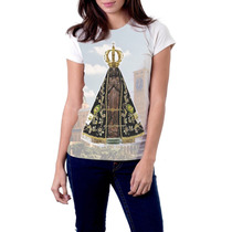 Camiseta Babylook Nossa Senhora Aparecida Religiosa Católica
