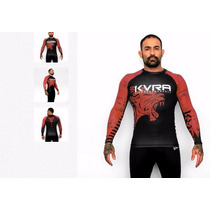 Rash Guard Lycra Lion Kvra - Jiujitsu Submission *frete Gr