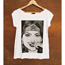 Blusa Feminina Camisetas Super Herois Mulher Maravilha