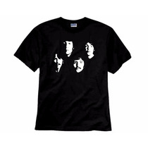 The Beatles Camiseta De Rock Preta Linda E Exclusiva