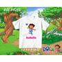 Camiseta Dora Aventureira Infantil Personalizada Desenho