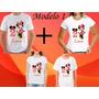 Kit 4 Camisetas Personalizada Tema Minnie Aniversario