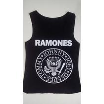 Camiseta Regata Feminina Banda Rock E Filmes Varias Estampas