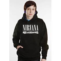Blusa Nirvana Moletom Canguru - Promoção!