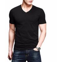 Camiseta Masculina Slim Fit Gola V - Pronta Entrega Varias C