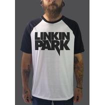 Raglan Linkin Park Camisetas Regata Blusa Moletom Banda Rock