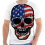 Camiseta Camisa Caveira Estados Unidos Skull 02