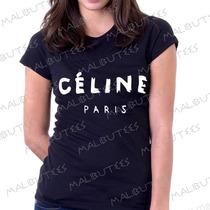Baby Look Camiseta Céline Paris Personalizado Blusa Feminina