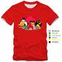 Camiseta Camisa Angry Birds Jogo Passarinhos 100% Algodão