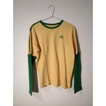 Camiseta Longa Brooksfield - Tamanho 16 Em Ótimo Estado