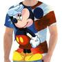 Camiseta Mickey Estados Unidos Estampada Masculina Feminina