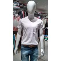 Camiseta Basica Hering Manga Curta Flame (42k5) - Masculina