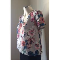 Zara Blusa Camiseta T-shirt Floral Lindinha E Nova!!