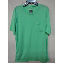 Camiseta Hollister Surf Masculina Verde Bolso Original Tm M