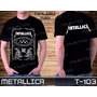 Metallica Guns N Roses Beatles Led Zeppelin Camiseta Preta