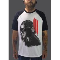 Raglan Skrillex Camisetas Blusas Moletom Dj Dubstep Musica