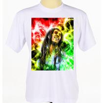 Camisa Camiseta Bob Marley Reggae Manga Curta Baby Look