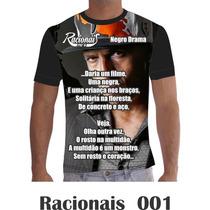 Camisa Camiseta Musica Racionais Mcs Rap Hip Hop