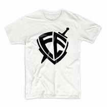 Camiseta Masculina E Baby Look Escudo D Fé Gospel Evangelico