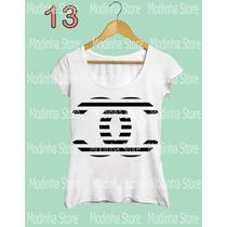 Tshirt Feminina Blusa Estampa Chanel Marca Tendencia Moda